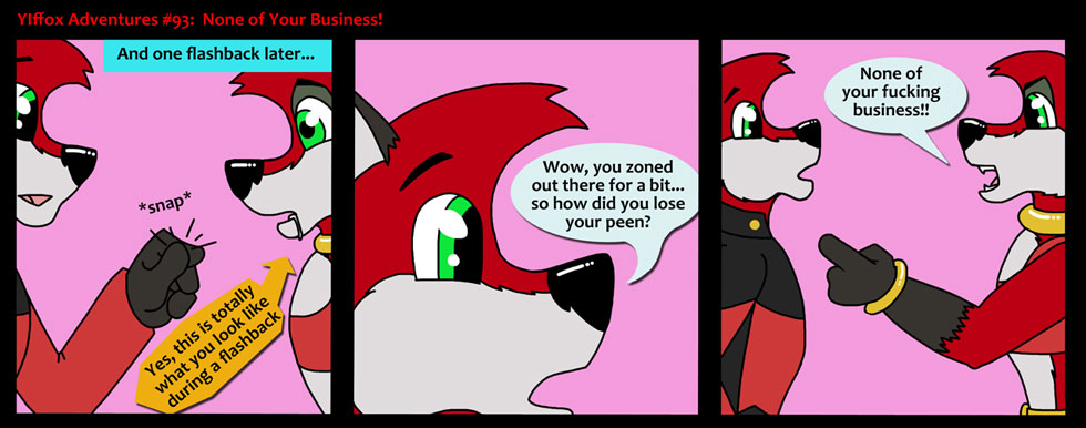 Damn all that flashback and poor yiffox didn't find out a thing